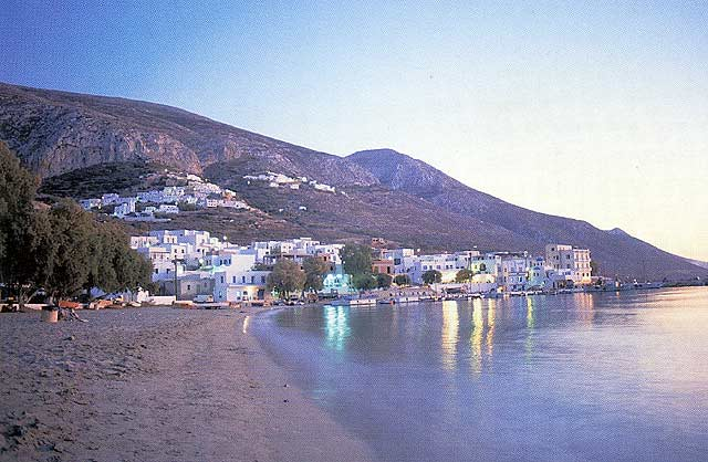 AEGIALI - View of Aegiali beach
