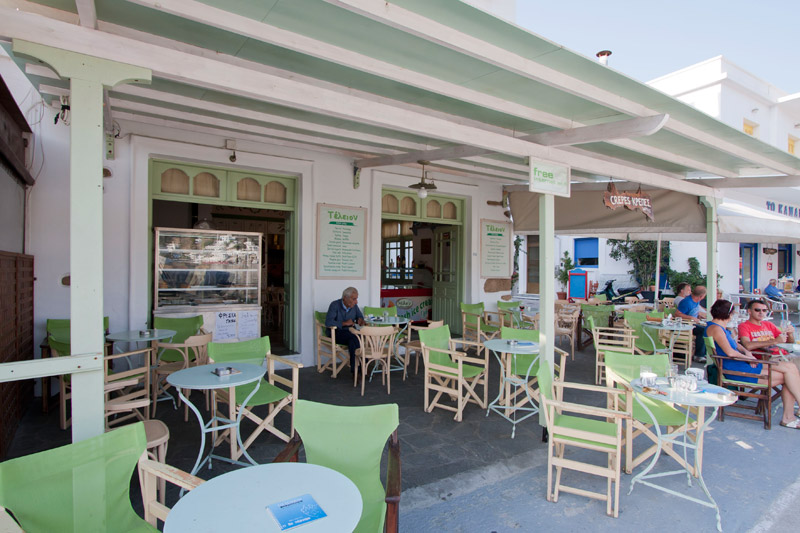 CAFE TELEION IN  Port - Katapola Amorgos